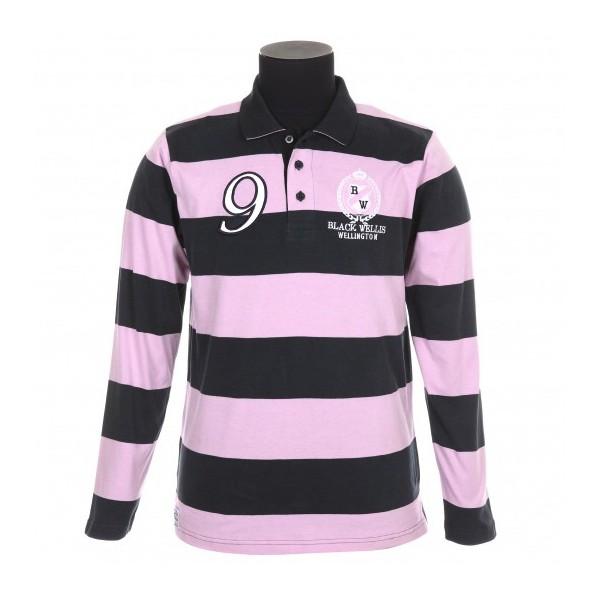 polo rugby black wellis marine rose esprit rugby. Black Bedroom Furniture Sets. Home Design Ideas