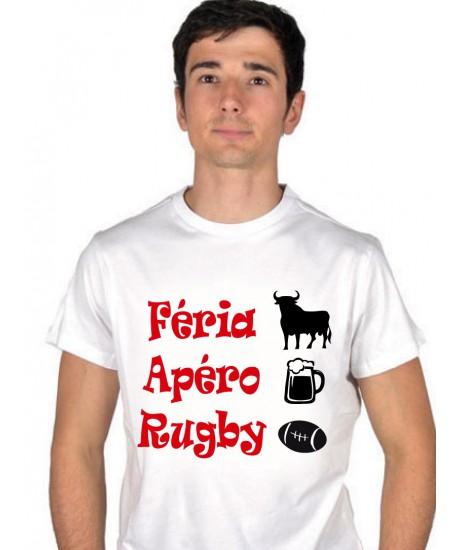 Tee shirt  Féria Apéro Rugby ballon