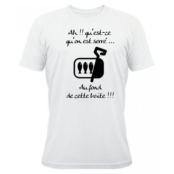 tee shirt rugby humour les sardines blanc esprit rugby. Black Bedroom Furniture Sets. Home Design Ideas