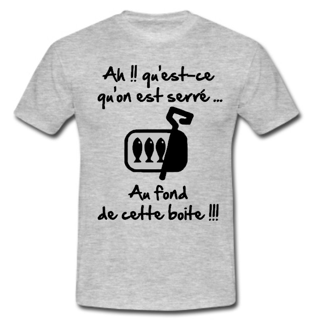 tee shirt rugby humour les sardines gris noir esprit rugby. Black Bedroom Furniture Sets. Home Design Ideas