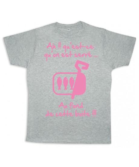 """Tee shirt Rugby bébé """"Sardines"""" Gris/Rose"""