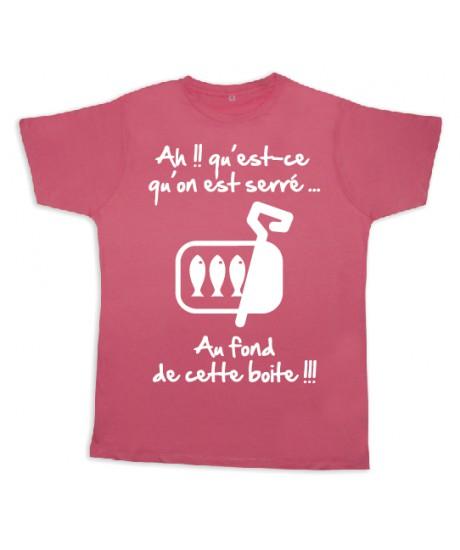 "Tee shirt Rugby bébé ""Sardines"" Rose/Blanc"