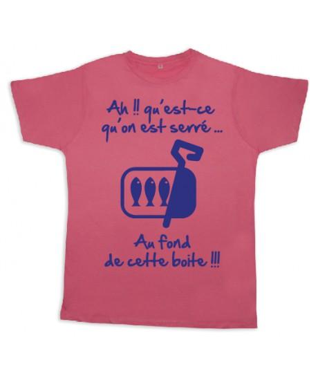 """Tee shirt Rugby bébé """"Sardines"""" Rose/Bleu"""