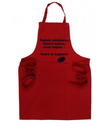 Tablier de cuisine Rugby Rouge