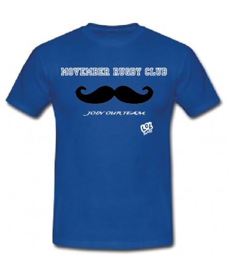 """Tee shirt """"Movember Rugby Club"""" Bleu"""
