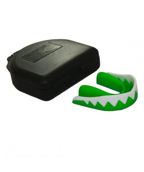 Protège dents Gilbert vert/blanc senior