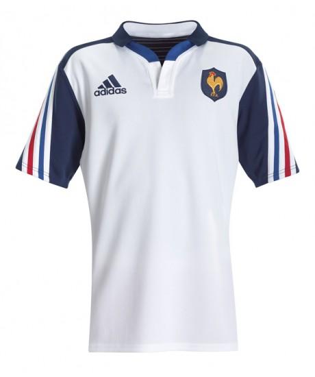 Maillot Junior Adidas XV de France 2014 blanc