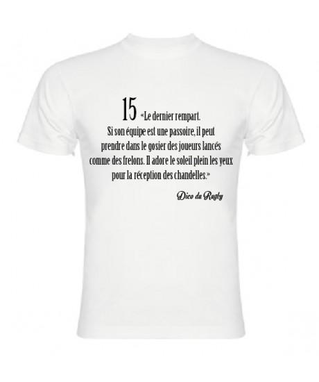 Tee Shirt Dico du Rugby n°15