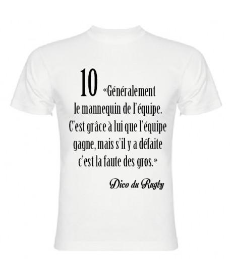 Tee Shirt Dico du Rugby n°10