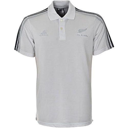Polo All Blacks, coloris blanc et gris, pour hommes, de la marque adidas  Performance. 753718e85095