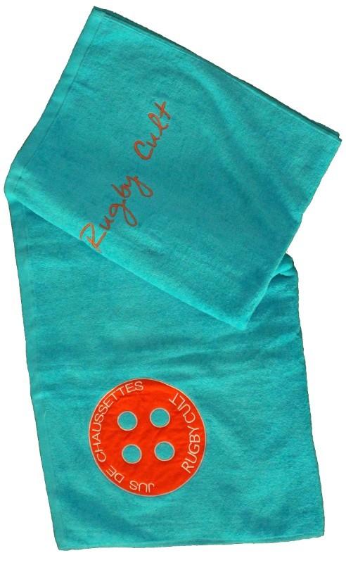 drap de bain jus de chaussettes turquoise esprit rugby. Black Bedroom Furniture Sets. Home Design Ideas