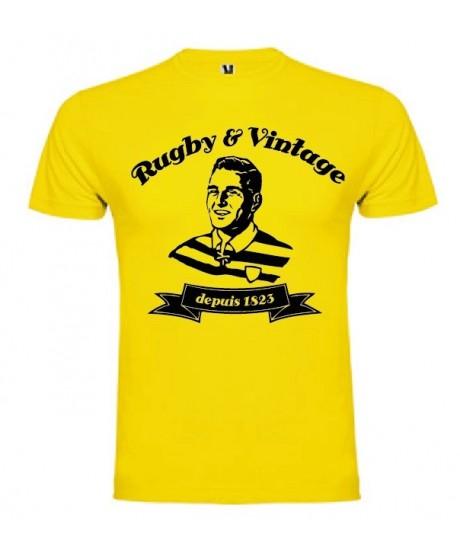 Tee Shirt Rugby & Vintage Buste Jaune