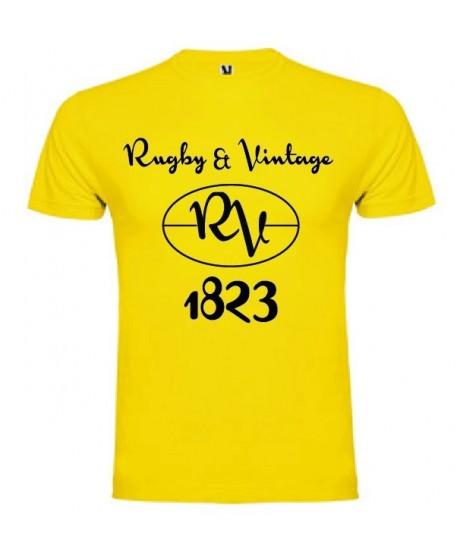 Tee Shirt Rugby & Vintage RV Jaune
