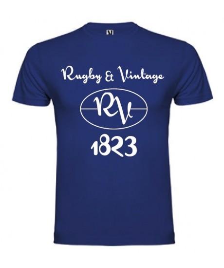 Tee Shirt Rugby & Vintage RV Bleu