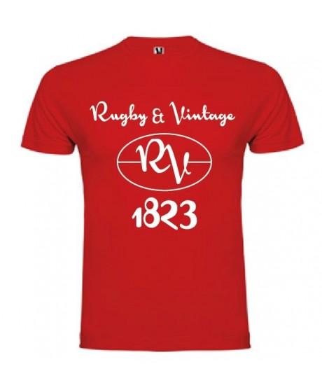 Tee Shirt Rugby & Vintage RV Rouge