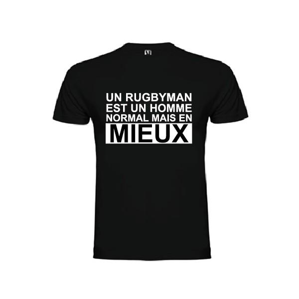 tee shirt un rugbyman est un homme normal mais en mieux. Black Bedroom Furniture Sets. Home Design Ideas