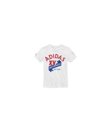 Tee Shirt Adidas XV de France Junior blanc