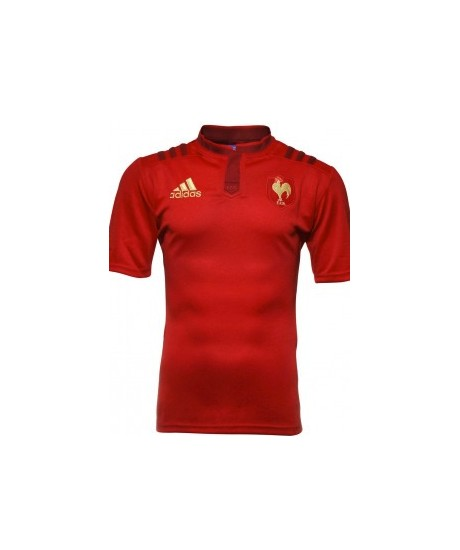 Maillot rugby XV de France JNR 2015 rouge