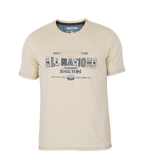 Tee shirt Shilton ALL NATIONS Paille
