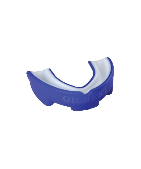 Protège dents Senior Gilbert Atomic Dual Density Bleu / Blanc