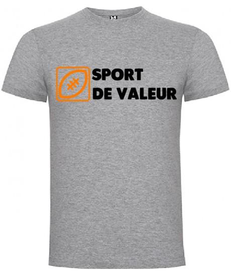 "Tee Shirt ""Valeur"" LoLRugby Gris"