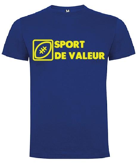 """Tee Shirt """"Valeur"""" LoLRugby Bleu"""