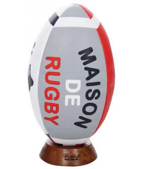 Ballon Ruckfield Maison de rugby + socle bois