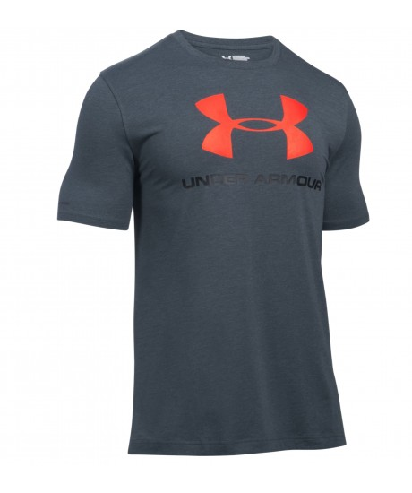 Tee shirt Under Armour Gris Logo Orange