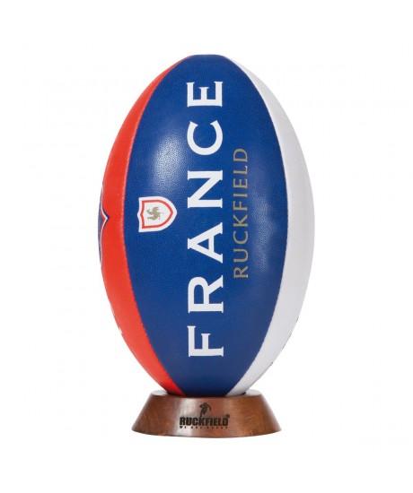Ballon Ruckfield FRANCE 1977 + socle bois