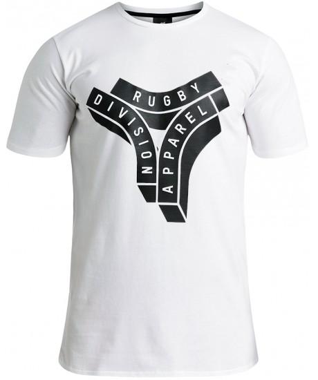 "Tee Shirt Rugby Division ""LOGO"" Blanc"