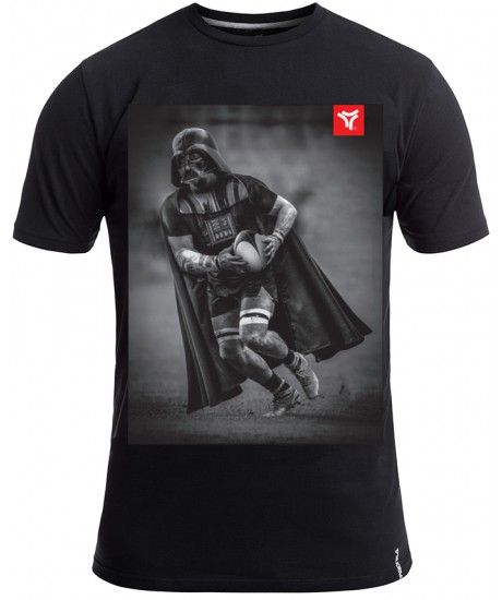 "Tee Shirt Rugby Division ""DARK SIDE"" Noir"