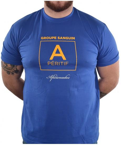 "Tee shirt Aficionados ""Rhesus"" Bleu Royal"