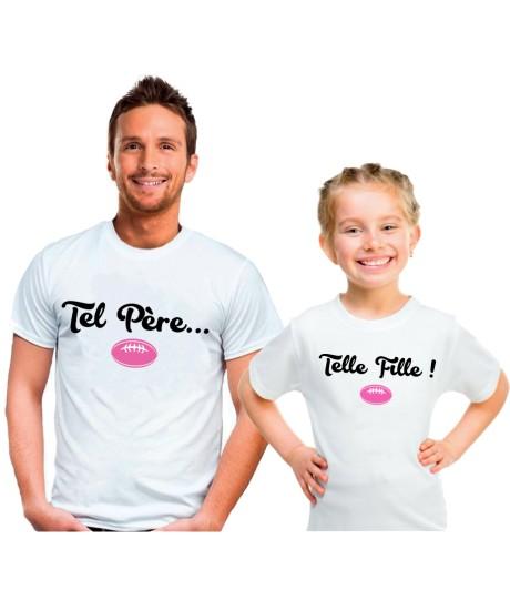 Duo de Tee-shirts Père et Fille Tel père Telle Fille