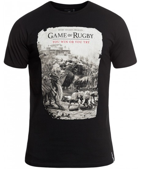 """Tee Shirt Rugby Division """"GAMES"""" Noir"""