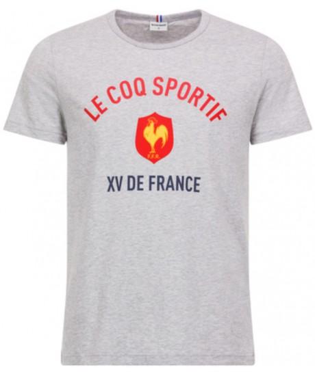 TEE-SHIRT GRIS Le Coq Sportif SUPPORTER XV DE FRANCE 2018-2019