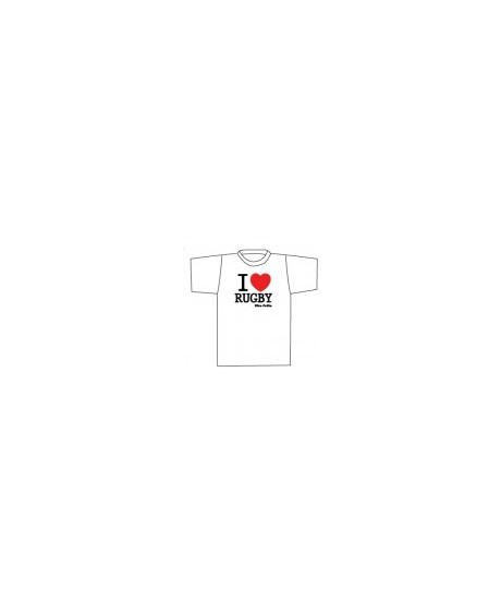 "Tee shirt "" I LOVE RUGBY "" ULTRA PETITA"