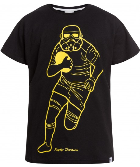 "Tee Shirt Rugby Division ""ASTROMASK"" Noir"