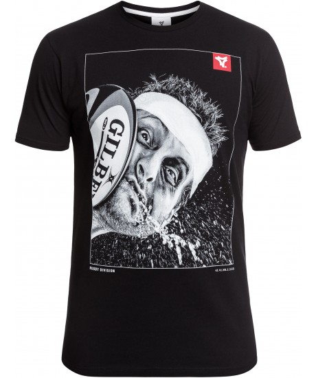 """Tee Shirt Rugby Division """"OUCH"""" Noir"""