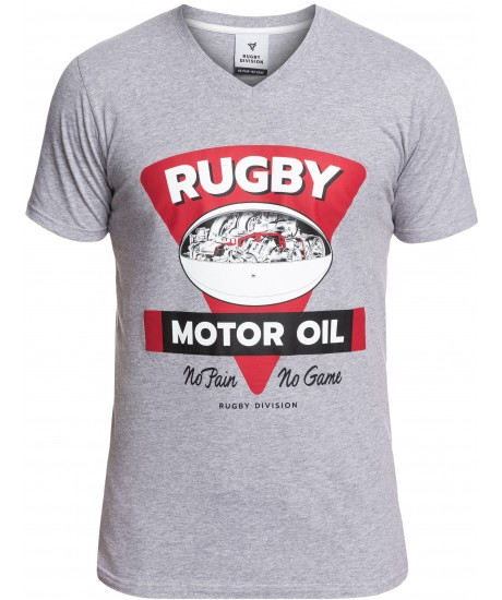 "Tee Shirt Rugby Division ""MOTOR "" Gris"