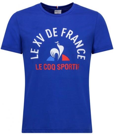 TEE-SHIRT BLEU Le Coq Sportif SUPPORTER XV DE FRANCE 2019-2020