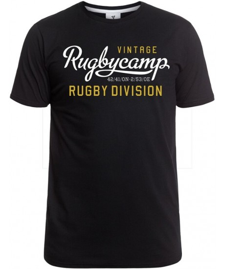 "Tee Shirt Rugby Division ""Rugby Camp"" Noir"