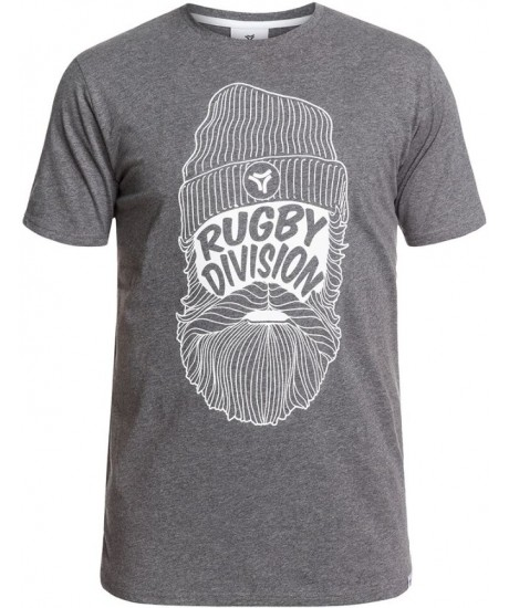 """Tee Shirt Rugby Division """"Barbe"""" Gris"""
