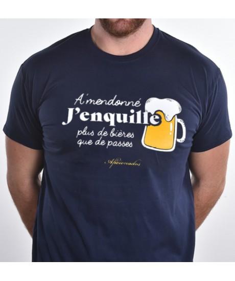 "Tee shirt Aficionados ""J'enquille"" Marine"