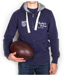 Sweat Rugby & Vintage bleu
