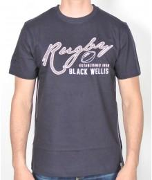 Tee Shirt Black Wellis Rugby Marine