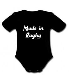 "Body bébé ""Made in Rugby"" Noir/Blanc"