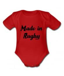 "Body bébé ""Made in Rugby"" Rouge/Noir"