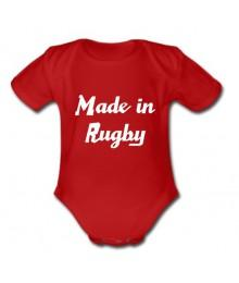 "Body bébé ""Made in Rugby"" Rouge/Blanc"