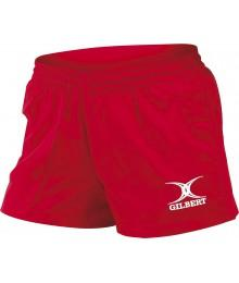 Short de rugby Gilbert rouge