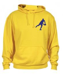 Sweat Capuche Rugby Essentiels Jaune